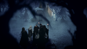 Wildpath's BURIED MOON music video still - House by pippa-hynelin