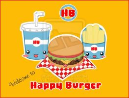 Happy Burger by Nashiil by the-pixel-bakery