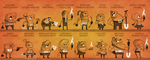 8 Heroes and 8 Villains by FlashBros