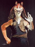 Jar Jar Binks by Ninjacompany
