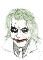 Heath Ledger as The Joker by Stone-Fever