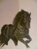 Friesian horse by rusellew