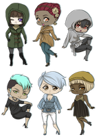 Fashionable Chibis by MadameNyx