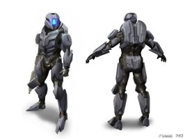 Halo 4: Champions DLC - Prefect Armor Concept by SBigham