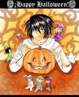Death Note Happy Halloween by Mishiko-Saku-Chan