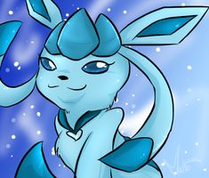 Glaceon 8D by MimiMarieT