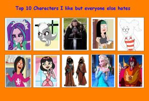 10 Characters I Like but Everyone Else Hates 06 by SithVampireMaster27