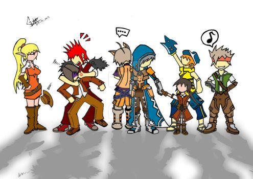 DragonNest - Guild Gathering (Colored) by Creuzz