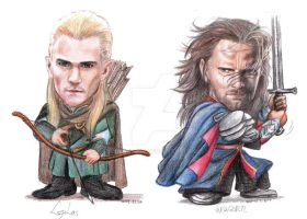 Legolas and Aragorn by user--9984