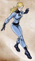Sketching Invisible Woman by dichiara