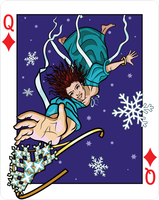 Queen of Diamonds - Falling Snow by WorldsEdge