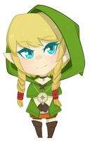 The Legend of Zelda - Linkle Chibi by JessicaFreaxx