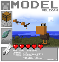Minecraft - Pelican by Dragonith
