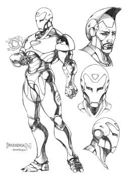 Ironman by harveytsketchbook