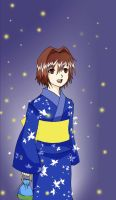 4hero:Dita with Yukata by kairikazu