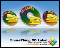 Shurething CD Label by weboso