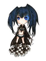black rock shooter chibi  lineart by makii-chi