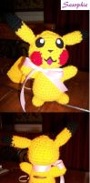 Pikachu crochet plush by Sasophie