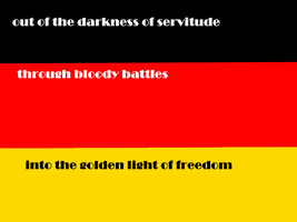 Germany's flag and one of it's phrase's by furman111