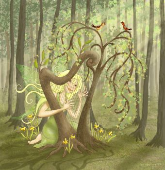 Tree Harp by SalixTree