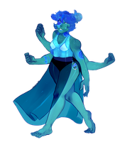 Sea Jasper/Lapis Fusion! | Happy Birthday SwaggyT by KitsuneZakuro