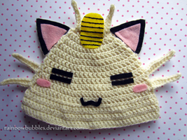 Commission:  Meowth Fanart Baby Hat by Rainbowbubbles