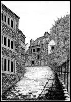 Cobbled lane by PENANDINKDRAWINGS