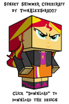 Sunset Shimmer Cubeecraft by ToonAlexSora007