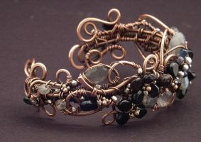 Dragonfly Cuff Side View by WiredElements
