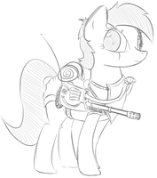 Fallout Equestria Battlesaddle Mare by ColgateFIM