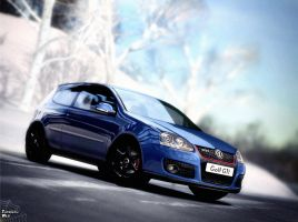 VW Golf GTI in Winter by Tangled-Web-Art