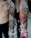 Traditional Chinese-Japanese sleeve tattoo by qiangzitattoo