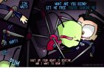 Invader Zim.- Obsession Chapter 4  (ZaDr) by yusunaby