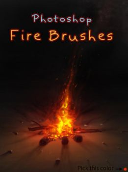 Fire Brushes by amorphisss