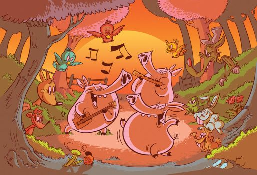 Three Little Party Pigs by Jean--Franco