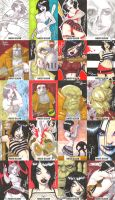 Hack Slash sketch cards by Dominic-Marco