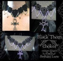 Black Thorn choker by redLillith