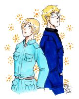 aph su and fin by AnnHolland