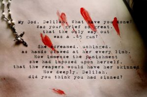 Why are you so scared, Delilah by inthehouseofwolves