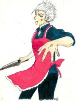 'Kiss the Cook'_Vergil by KibaDVahnGoth