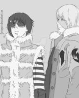 Matt and Mello black and white by Hatake-Flor