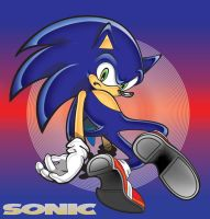 Sonic turns to face by manaita