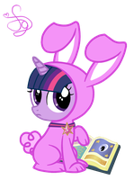 Twilight Sparkle Rabbit by KristieSparcle