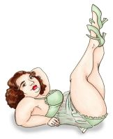 Spearmint Pin up by BrowncoatFiction