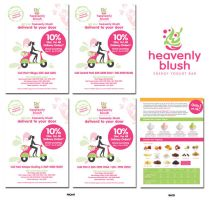 Delivery Flyer Heavenly Blush by InsightGraphic