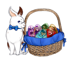 Easter Bunbert by singingcatartist12