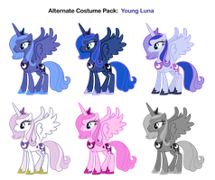 FiM Costumes: Young Luna by Pika-Robo