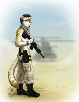 Tiger in the Desert by TheTiedTigress
