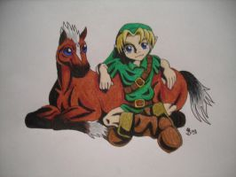 Link and Epona MM by DarthJader11