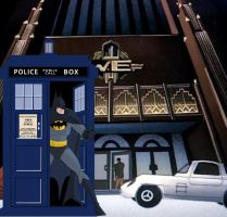 Batman Borrows the Tardis from Doctor Who by Brandtk